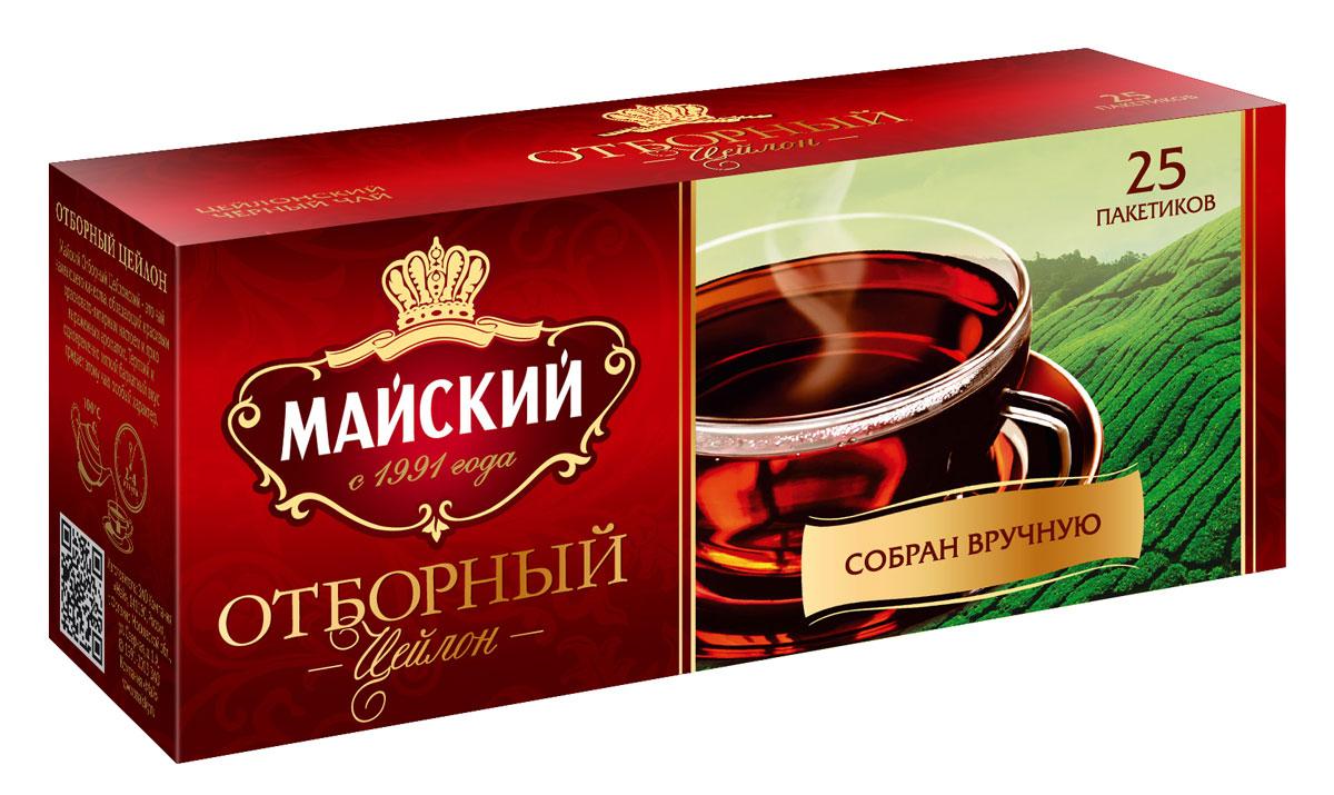 Майский Отборный черный чай в пакетиках, 25 шт