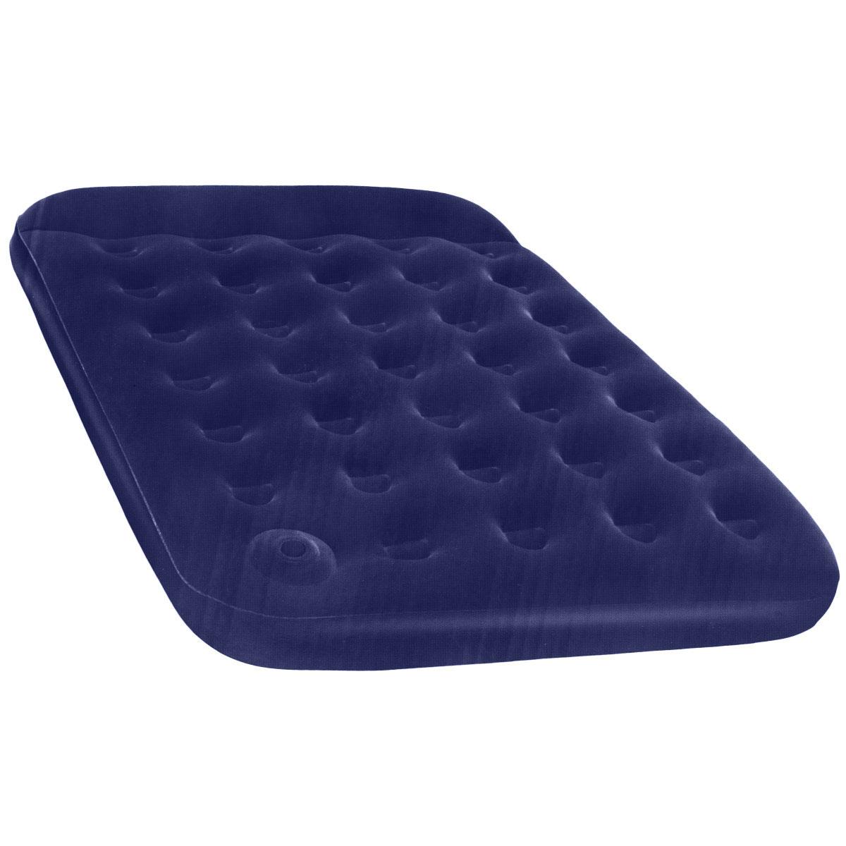 Матрас надувной Bestway, флокированный, цвет: синий, 191 х 137 х 22 см. 67225N