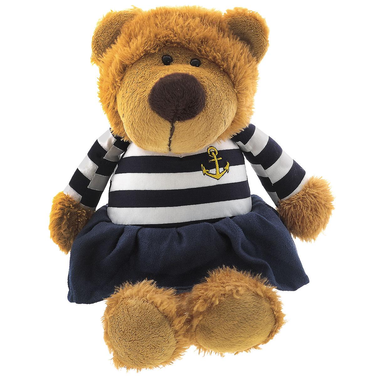 Мягкая игрушка Sonata Style Медведь морячка, 22 смMA5242,22A.BМягкая игрушка Sonata Style Медведь морячка привлечет внимание любого ребенка. Игрушка изготовлена из высококачественных текстильных материалов. Представлена игрушка в виде медвежонка, одетого в платье морского стиля. Глазки выполнены из пластика. С такой забавной игрушкой можно смело засыпать в кроватке или отправляться на прогулку. Порадуйте своего ребенка таким подарком.
