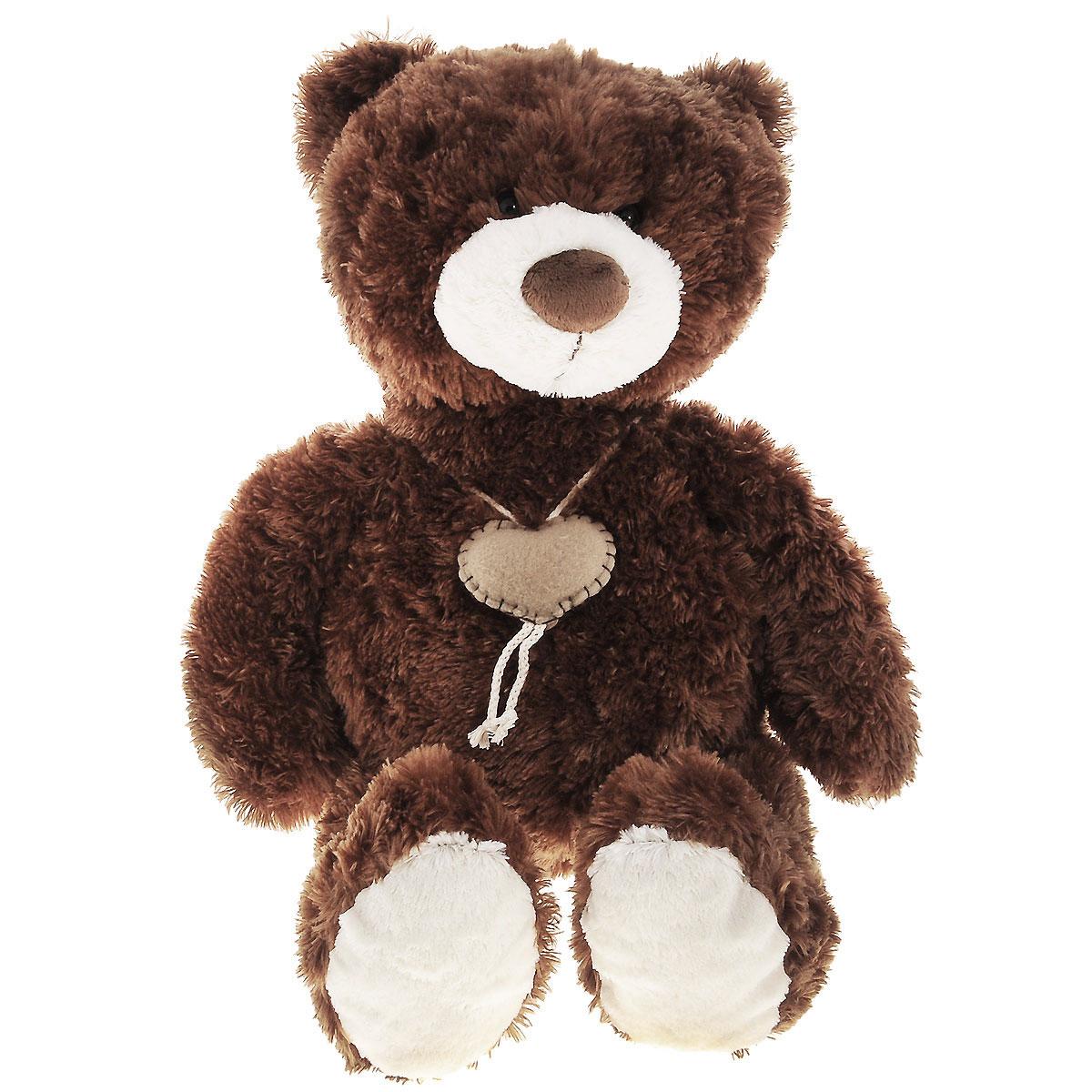 Мягкая игрушка Plush Apple Медведь с сердцем, 70 смK76239E1Мягкая игрушка Plush Apple Медведь с сердцем не оставит вас равнодушным и вызовет улыбку у каждого, кто ее увидит. Игрушка изготовлена из высококачественных текстильных материалов. Выполнена игрушка в виде очаровательного медведя. На шее с помощью шнурка подвязано сердце. Глазки медведя изготовлены из пластика. Симпатичная игрушка неизменно будет радовать вашего ребенка, а также способствовать полноценному и гармоничному развитию его личности.