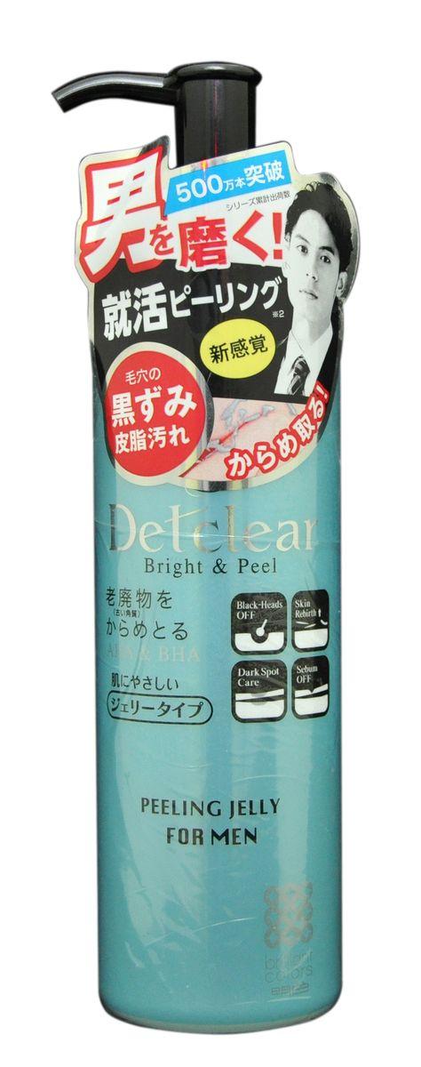 Meishoku Очищающий пилинг-гель с AHA и BHA с эффектом сильного скатывания для мужчин, 180 мл