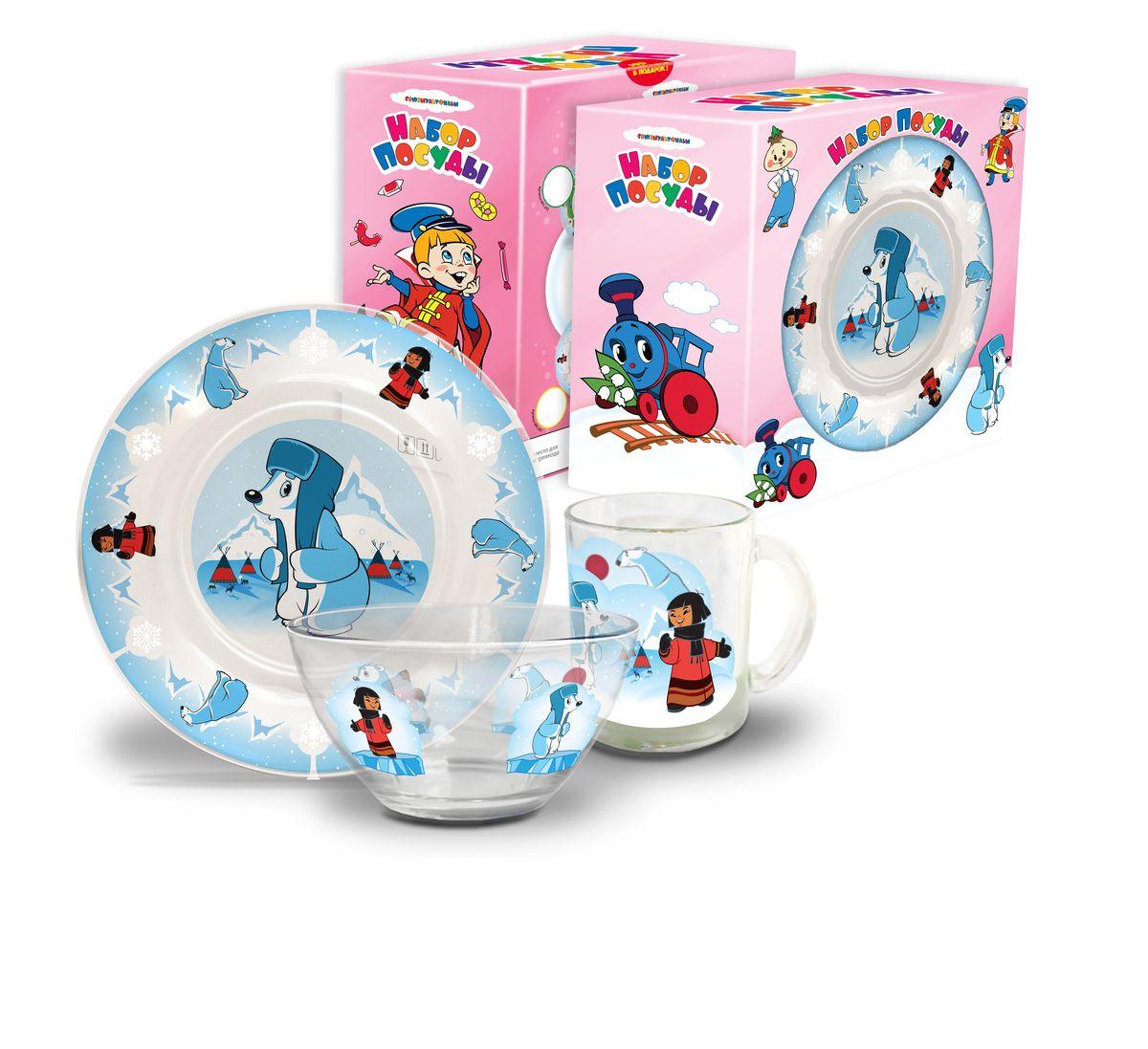 Набор посуды детский Умка(стекло), 3 предметаКРС-301