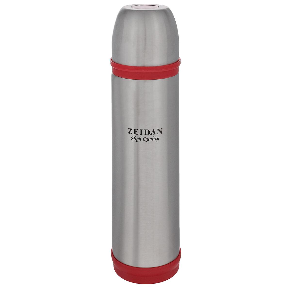 Термос Zeidan, цвет: красный, серебристый, 750 млZ-9037 КрасныйТермос с узким горлом Zeidan, изготовленный из высококачественной нержавеющей стали, является простым в использовании, экономичным и многофункциональным. Термос с двухстеночной вакуумной изоляцией предназначен для хранения горячих и холодных напитков (чая, кофе). Изделие укомплектовано пробкой с кнопкой. Такая пробка удобна в использовании и позволяет, не отвинчивая ее, наливать напитки после простого нажатия. Изделие также оснащено крышкой-чашкой. Легкий и прочный термос Zeidan сохранит ваши напитки горячими или холодными надолго. Высота (с учетом крышки): 30 см. Диаметр горлышка: 4,5 см.