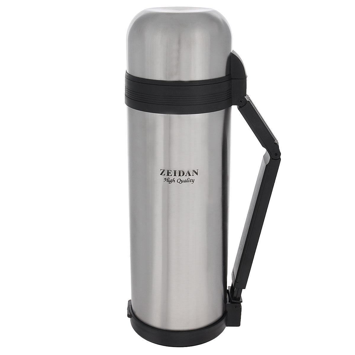 Термос Zeidan Aiden, 1,8 лZ-9016 AidenТермос Zeidan Aiden, изготовленный из высококачественной нержавеющей стали, является простым в использовании, экономичным и многофункциональным. Термос с вакуумной изоляцией, предназначенный для хранения горячих и холодных напитков (чая, кофе). Изделие укомплектовано пробкой с кнопкой. Такая пробка удобна в использовании и позволяет, не отвинчивая ее, наливать напитки после простого нажатия. Изделие также оснащено крышкой-чашкой, дополнительной чашкой, складной ручкой и специальным ремнем для удобной переноски термоса. Легкий и прочный термос Zeidan Aiden сохранит ваши напитки горячими или холодными надолго. Высота (с учетом крышки): 33,5 см. Диаметр горлышка: 7,5 см.