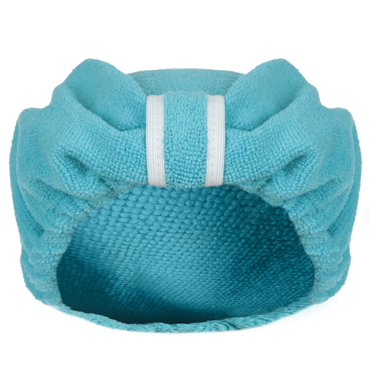 Чалма для сушки волос Главбаня, цвет: бирюзовыйБ90_бирюзовыйЧалма Главбаня выполнена из полиэстера и полиамида. Обеспечивает щадящую и комфортную сушку волос после мытья, держится и выглядит лучше обычного полотенца. Чалма также может использоваться при нанесении макияжа и косметических процедурах, для защиты волос в сауне. Прекрасно впитывает влагу и подходит для волос любой длины. Чалма Главбаня пригодится вам не только дома, но и в поездке, на даче, после занятий спортом. Максимальный обхват головы: 68 см.