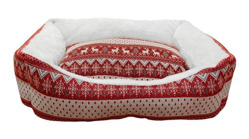 Лежак для животных Fauna Laplandie, цвет: красный, белый, 54 х 49 х 16 смFIDB-9017Уютный лежак для животных Fauna Laplandie обязательно понравится вашему питомцу. В нем питомец будет счастлив, так как лежак очень мягкий и приятный. Он будет проводить все свое свободное время в нем, отдыхать, наслаждаясь удобством. Лежак выполнен из мягкой качественной ткани с ярким дизайном. Подстилка у изделия съемная. Мягкий лежак станет излюбленным местом вашего питомца, подарит ему спокойный и комфортный сон, а также убережет вашу мебель от многочисленной шерсти. Размер лежака: 54 х 49 х 16 см.