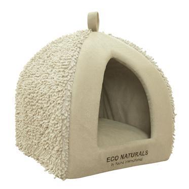 Домик для кошки MORATA 35х35х40смFIDB-9035Домик комбинированный из мягкого плюша и бежевой шенильи с вельветовой подушкой. Отделан фирменной вышивкой. Нижняя часть из зеленого канваса с белым принтом против скольжения.