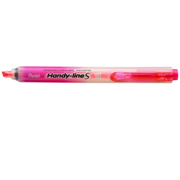 Pentel Текстовыделитель Handy-Lines, цвет: розовыйPSXS15-PТекстовыделитель Handy-Lines с функцией чистый карман розового цвета станет незаменимым как на столе школьника, так и студента. Стержень автоматически убирается при нажатии на кнопку. Такой маркер никогда не испачкает вашу одежду! Обеспечивает ровные четкие линии толщиной 1,0-4,5 мм.