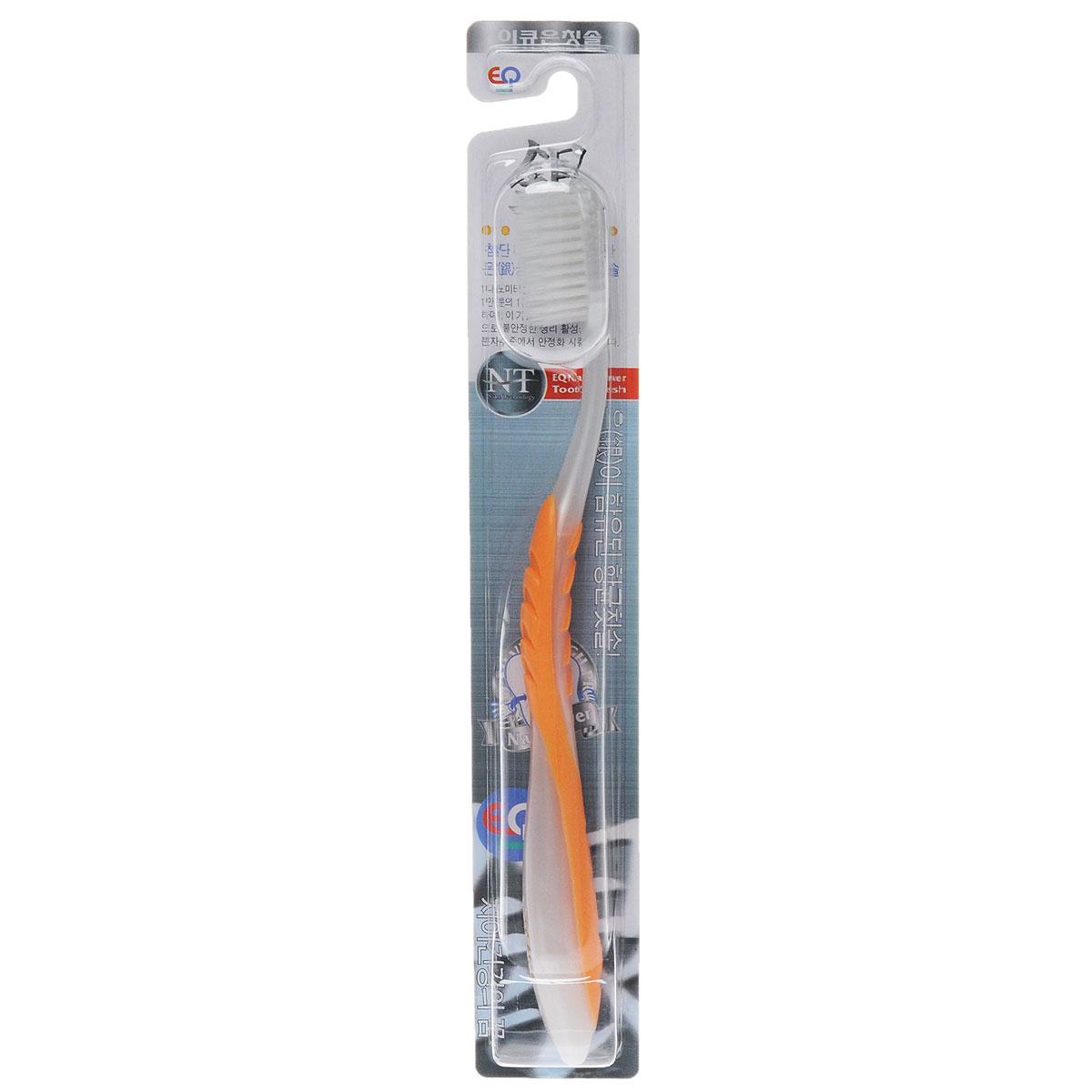 EQ MaxON Зубная щетка c наночастицами серебра, сверхтонкая, средняя жесткость, цвет: оранжевый160126_оранжевыйEQ MaxON Зубная щетка c наночастицами серебра, сверхтонкая, средняя жесткость, цвет: оранжевый