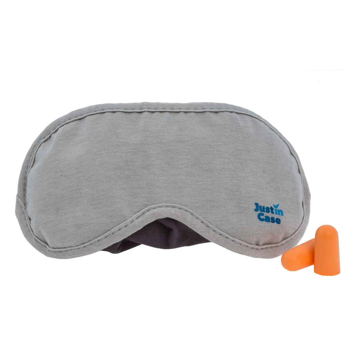 Маска для сна JustinCase, с берушами, цвет: серыйЕ508Набор из мягкой ночной маски для сна и берушей JustinCase защитит ваш крепкий сон от яркого света и назойливого шума. На регулируемом по длине ремешке имеется место для хранения берушей. Гул двигателей самолета, перестук колес, громкие разговоры попутчиков не помешают вам отдохнуть. Спите с комфортом, где бы вы ни были! Купить маску для сна – вопрос трех минут, зато она обеспечит вам многие часы спокойного сна. Размер маски: 18,5 см х 9 см. Размер берушей: 2,5 см х 1,2 см х 1,2 см.