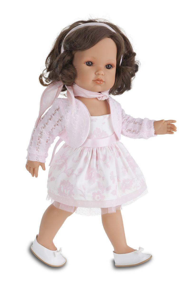 Juan Antonio Кукла Белла в розовом жакете2804Новые куклы-девочки испанского производителя Мунекас Антонио Хуан. Куклы с очаровательными детскими лицами. Выразительные глаза обрамлены длинными ресницами. Густые шелковистые волосы легко расчесывать и делать различные прически. Куклы одеты в чудесные наряды, созданные испанским дизайнером.