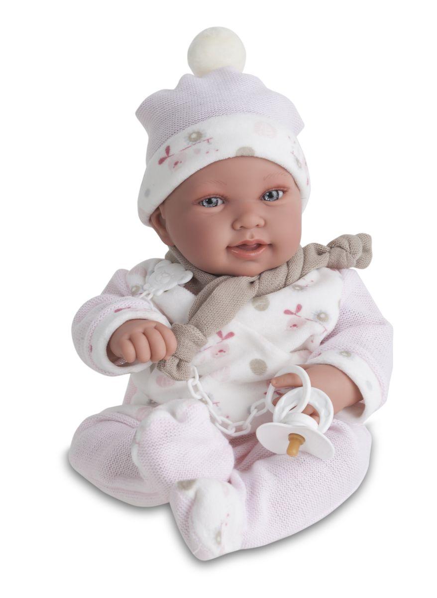 Munecas Antonio Juan Пупс Камилла в розовом костюме3357PИНТЕРАКТИВНЫЕ ФУНКЦИИ КУКЛЫ: нажмите на животик: - 1 раз - кукла засмеется, 2ой раз - кукла скажет мама, 3ий раз - скажет папа. Образы малышей Мунекас разработаны известными европейскими дизайнерами. Кукла с виниловыми подвижными ручками, ножками и головой, и мягконабивным туловищем. Кукла упакована в красивую подарочную коробку.