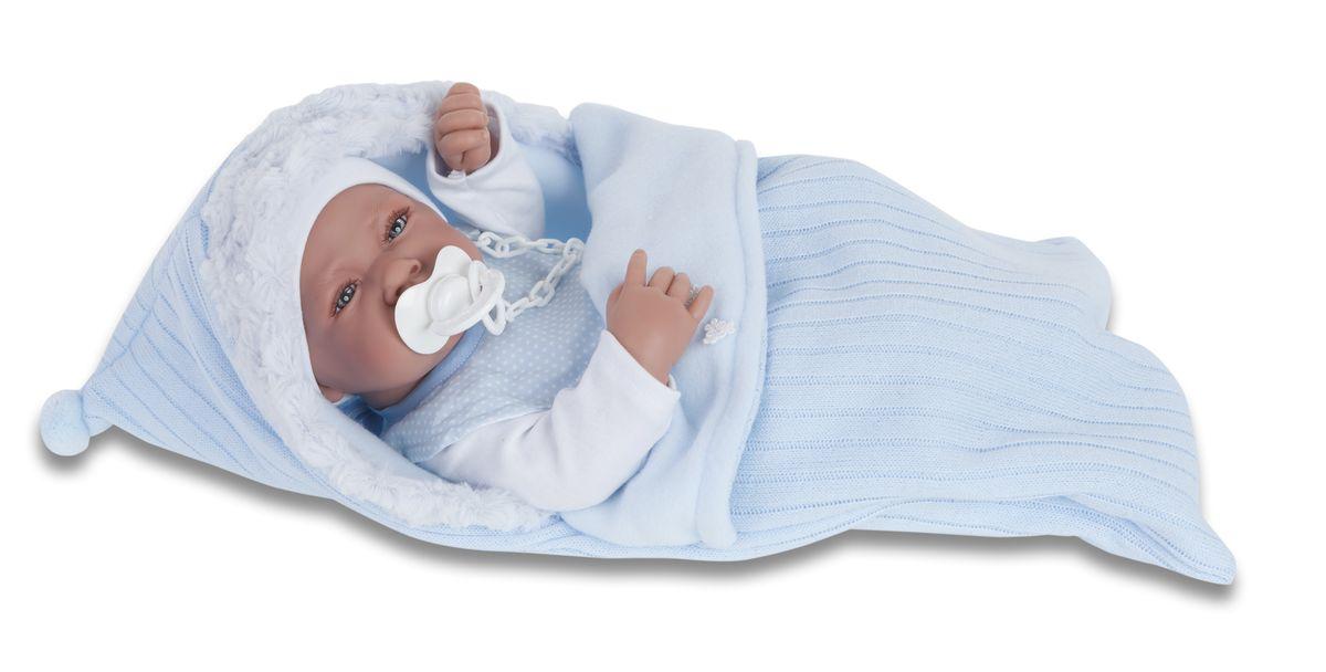 Munecas Antonio Juan Пупс Хьюго5065BОбразы малышей разработаны известными европейскими дизайнерами. Куклы натуралистичны, анатомически точны, с подвижными ручками и ножками, копируют настоящих младенцев. Полностью изготовлены из высококачественного винила с покрытием софт тач, мягкого и приятного на ощупь. Производятся в Испании. Для детей от 3-х лет.