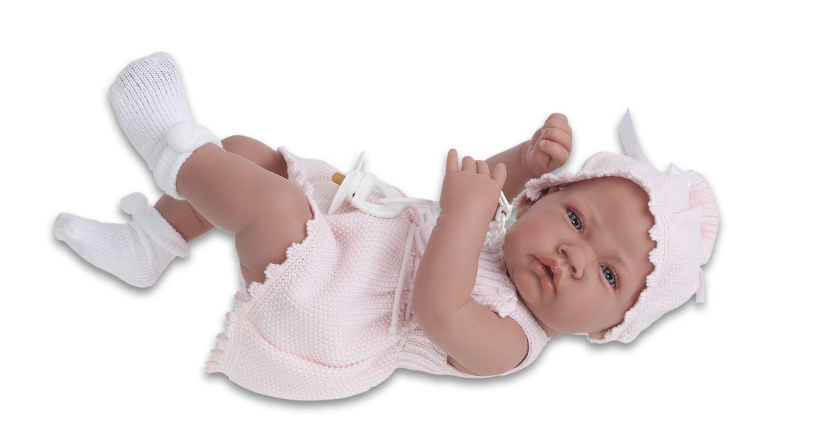 Juan Antonio Кукла-младенец Мануэла5068PОбразы малышей разработаны известными европейскими дизайнерами. Куклы натуралистичны, анатомически точны, с подвижными ручками и ножками, копируют настоящих младенцев. Полностью изготовлены из высококачественного винила с покрытием софт тач, мягкого и приятного на ощупь. Производятся в Испании. Для детей от 3-х лет.