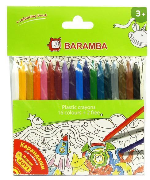 Baramba Набор пластиковых карандашей в блистере 18 шт +внутренний вкладыш-раскраска B96218