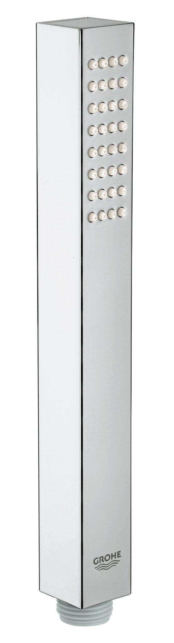 Ручной душ GROHE Euphoria Cube (1 режим) (27698000)27698000GROHE DreamSpray превосходный поток воды GROHE StarLight хромированная поверхность С системой SpeedClean против известковых отложений Внутренний охлаждающий канал для продолжительного срока службы Может использоваться с проточным водонагревателем Универсальное крепление, подходящее к любому стандартному шлангу Видео по установке является исключительно информационным. Установка должна проводиться профессионалами!