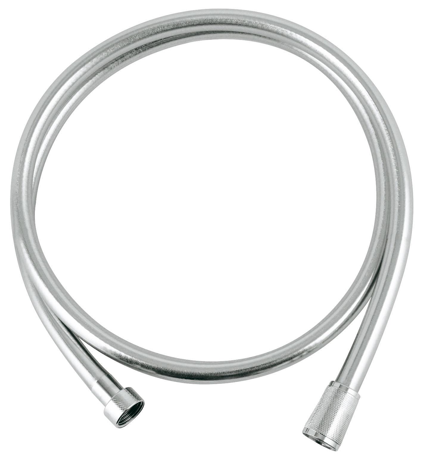 Душевой шланг Grohe Silverflex, длина 1,5 м. 2836400028364000Душевой шланг из пластика с гладкой поверхностью повышенной гибкости, легко чистится, с защитой от залома, на обоих краях вращающийся конус (Anti-Twist). Длина: 1500 мм. Присоединительный размер: 1/2 x 1/2. Хромированная поверхность GROHE StarLight. Видео по установке является исключительно информационным. Установка должна проводиться профессионалами!