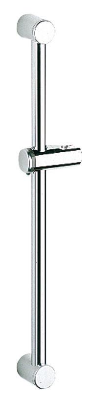 Душевая штанга Grohe Relexa28620000Душевая штанга Grohe Relexa выполнена из высококачественного металла с хромированной поверхностью StarLight. Оснащена настенными креплениями и поворотным держателем с фиксацией по высоте. Угол наклона штанги можно изменить при помощи растрового механизма. Высота регулируется при помощи винта. Диаметр: 28 мм. Длина штанги: 600 мм.