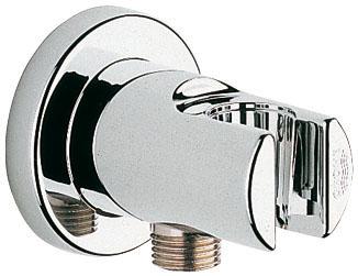 Подключение для душевого шланга Grohe Relexa, с держателем28628000С держателем ручного душа GROHE StarLight хромированная поверхность