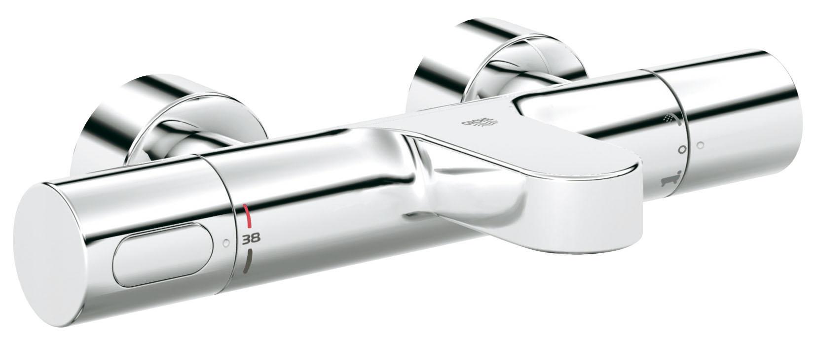 Термостатический смеситель для ванны GROHE Grohtherm 3000 Cosmopolitan (34276000)34276000Настенный монтаж GROHE CoolTouch безопасный корпус GROHE TurboStat встроенный термоэлемент Аквадиммер многофункциональный: - регулировка расхода Стопор безопасности при 38°C Встроенный стопор смешанной воды - переключатель: ванна/душ Отвод для душа снизу 1/2? Аэратор GROHE StarLight хромированная поверхность Встроенные обратные клапаны Грязеулавливающие фильтры Скрытые S-образные эксцентрики С защитой от обратного потока GROHE EcoJoy - технология совершенного потока при уменьшенном расходе воды Видео по установке является исключительно информационным. Установка должна проводиться профессионалами!