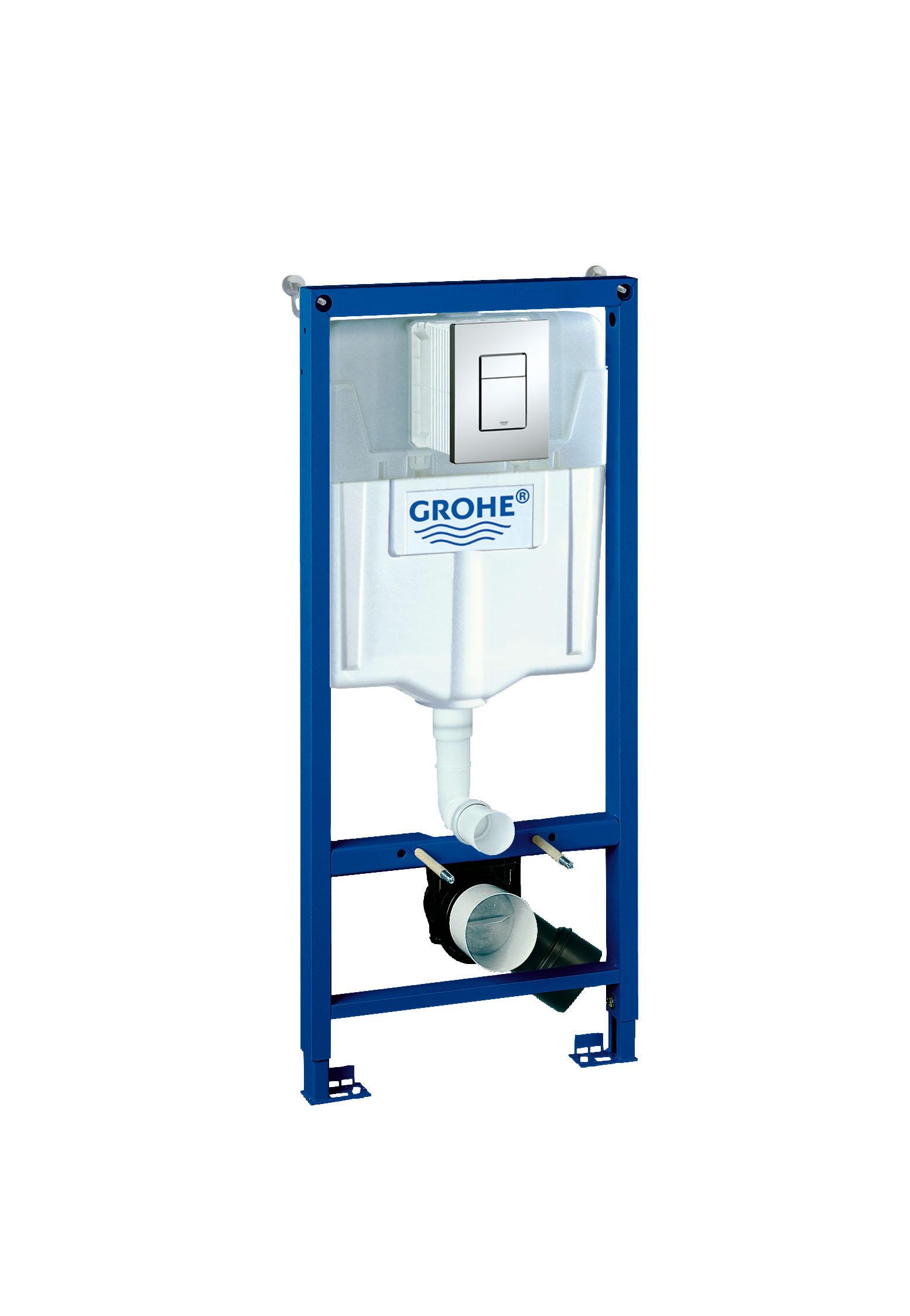Система инсталляции для унитаза GROHE Rapid SL с панелью смыва Skate Cosmopolitan (3 режима) (38772001)