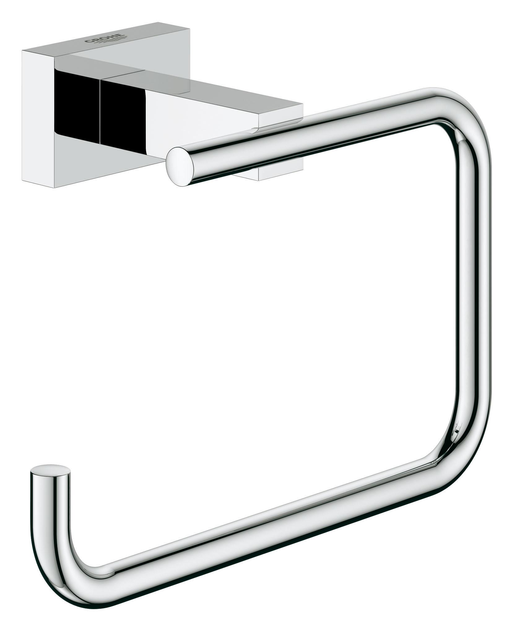 Держатель бумаги GROHE Essentials Cube. 4050700040507000Лаконичный дизайн в сочетании с превосходной функциональностью: держатель для туалетной бумаги без козырька из коллекции GROHE Essentials отличается гармоничным внешним видом и строгими формами. Ослепительное хромированное покрытие, в которое заложены проверенные стандарты качества GROHE, сохранит свой первозданный вид на многие годы. Особенности GROHE StarLight хромированная поверхность