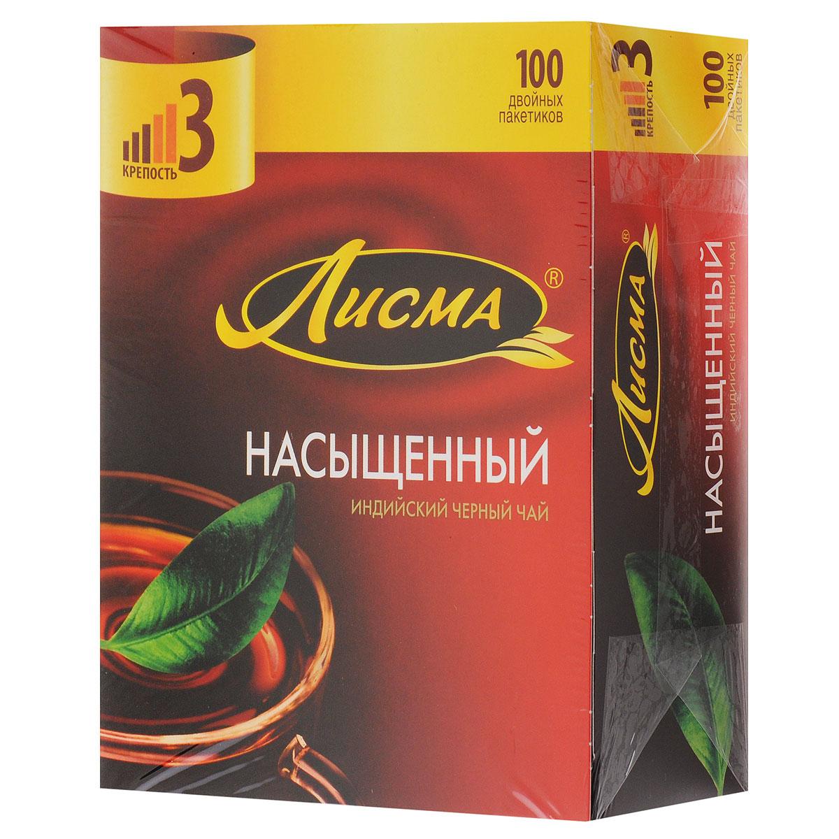 Лисма Насыщенный черный чай в пакетиках, 100 шт202030Лисма Насыщенный - индийский черный байховый чай в пакетиках. В коробке содержится 100 пакетиков по 1,8 грамма.