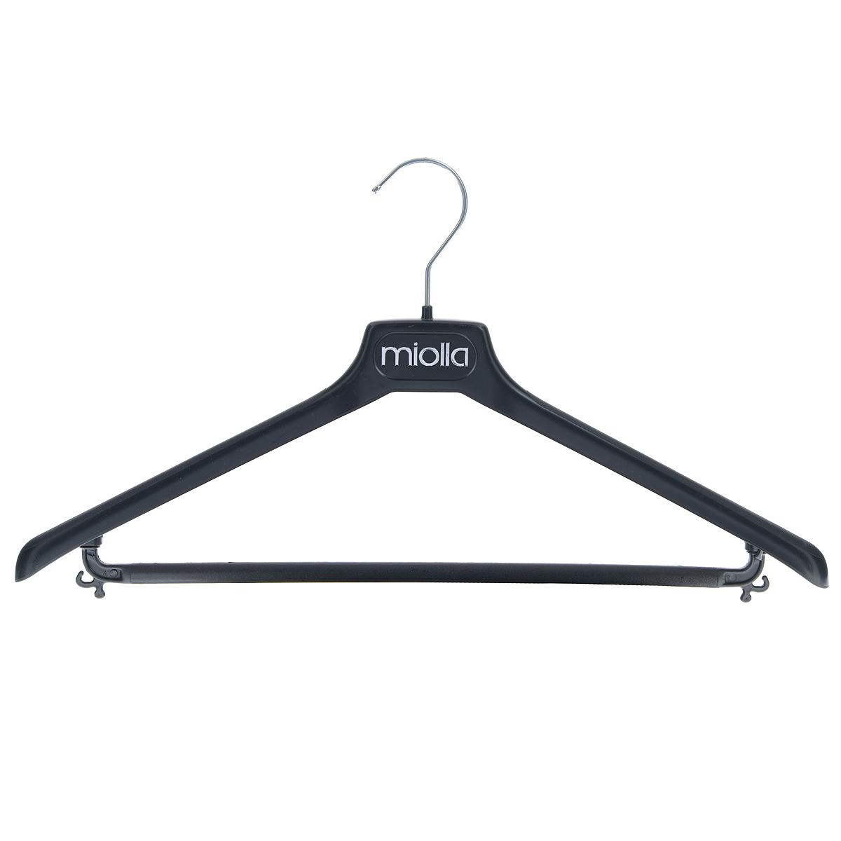 Вешалка для одежды Miolla, цвет: черный, длина 44 см2511074UУниверсальная вешалка для одежды Miolla выполнена из легкого пластика. Изделие оснащено перекладиной и двумя крючками. Вешалка - это незаменимая вещь для того, чтобы ваша одежда всегда оставалась в хорошем состоянии.
