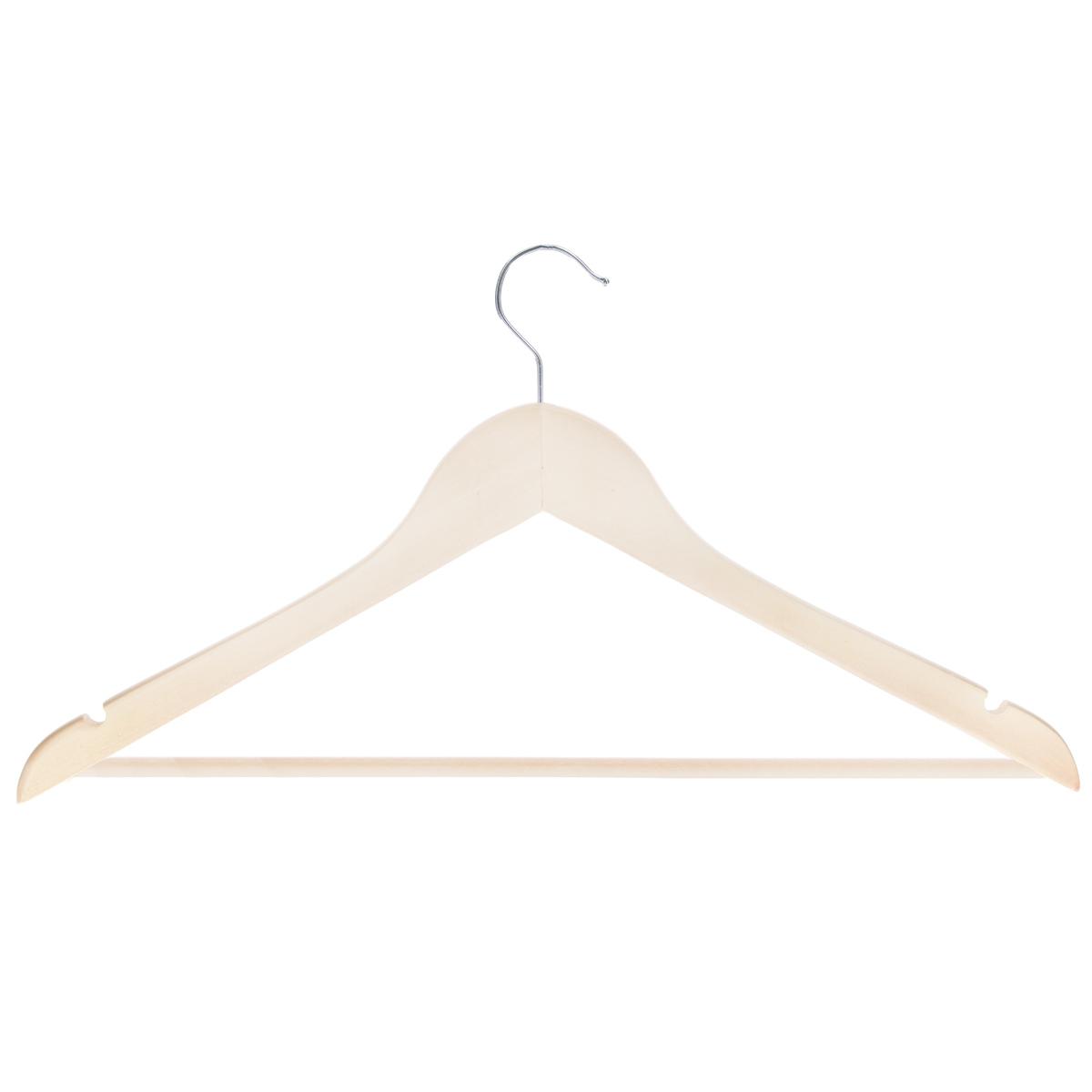 Вешалка для одежды Miolla, длина 45 см2511004Универсальная вешалка для одежды Miolla выполнена из прочного дерева. Изделие оснащено перекладиной и двумя крючками. Вешалка - это незаменимая вещь для того, чтобы ваша одежда всегда оставалась в хорошем состоянии.