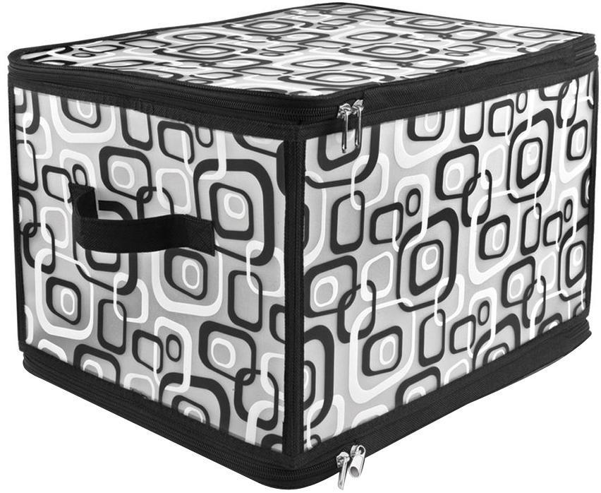 VAL MDR-L Кофр для хранения с застёжкой-молнией, 40*30*25 см, MODERN, цвет: черныйMDR-LВ новой линейке кофры 3-х размеров (S, M, L) Материал: пластик Особенности: VALIANT представляет MODERN Collection – новые складные кофры с современным черно-белым орнаментом. Кофры MODERN Collection позволяют красиво упорядочить и хранить самые разные предметы: вещи, одежду, обувь и т.д. Все кофры из коллекции MODERN складные, на молнии, с ручкой. Кофры легко складываются и раскладываются, а в сложенном виде занимают очень мало места. Кофры MODERN Collection эстетично и современно смотрятся в шкафу/стеллаже и обеспечивают бережное хранение для домашних вещей.