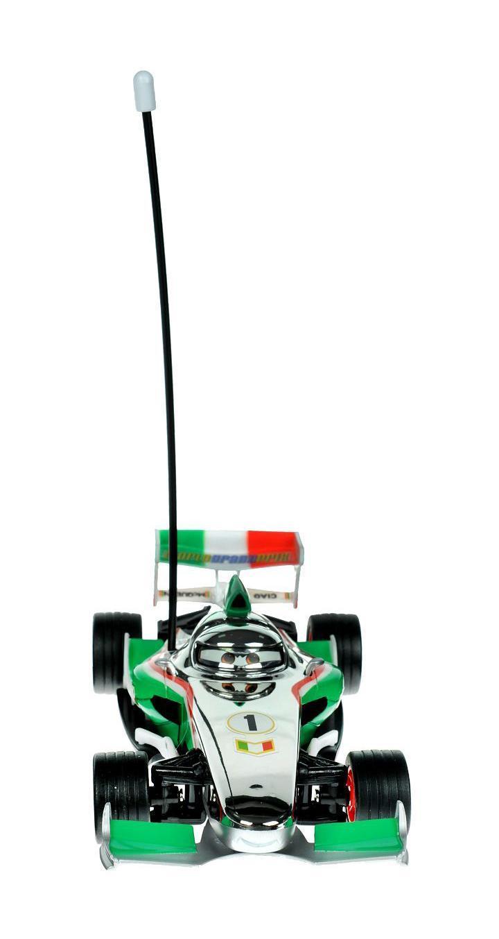 Cars Машина на радиоуправлении Francesco3089582Dickie Cars Франческо на радиоуправлении станет отличным подарком для поклонника одноименного мультфильма. Модель выполнена из прочного высококачественного материала. Гоночная модель машинки оснащена 2-х канальным управлением, можно управлять сразу 2-мя машинками.