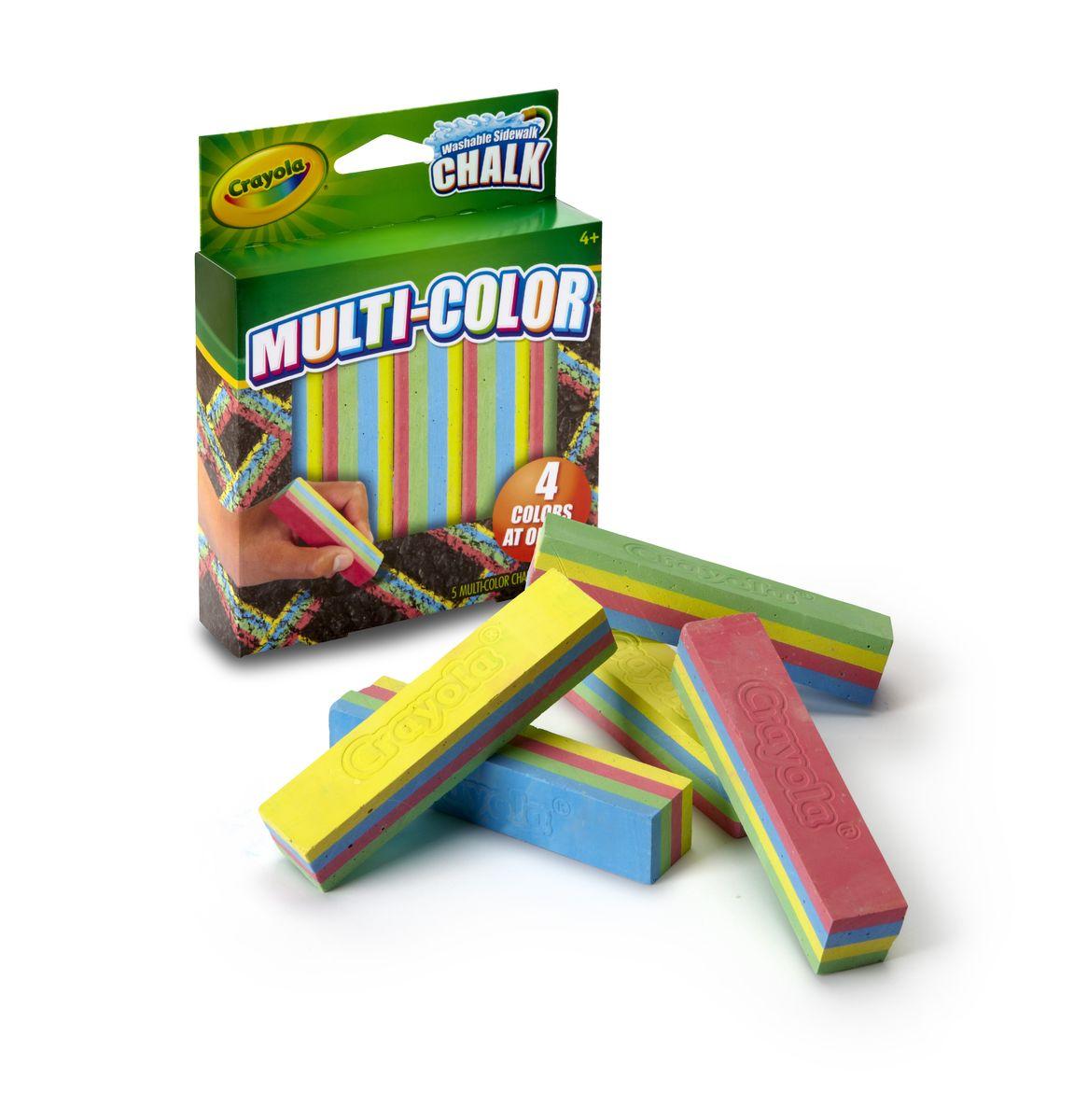 Crayola Мел для асфальта многоцветный, 5 цветов03-5805CСоздавай уникальные шедевры прямо на асфальте с новыми мелками Crayola! @# Эксклюзивные мелки Crayola сочетают сразу 4 цвета в одном кусочке. Рисуй одновременно зелёным, жёлтым, синим и розовым цветом! Качественными мелками легко создать яркий неповторимый рисунок. В коробке 5 четырёхцветных прочных мелков высокого качества. Они не расколются и не поломаются при случайном падении или от сильного нажима. @# Мелки для асфальта Crayola разработаны для детей от 4 лет. Создавая новые картины на асфальте, ребёнок развивает свои творческие навыки и воображение. Нарисуй радугу одним движением руки!