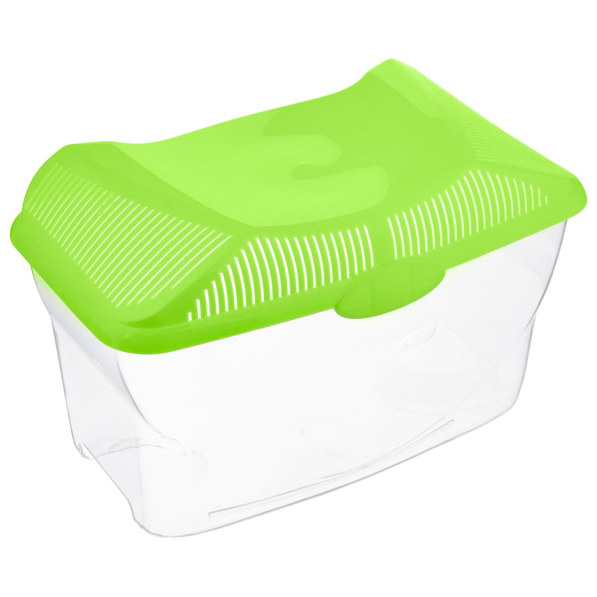 Аквариум-террариум Savic Aqua Smile, цвет: прозрачный, салатовый, 3 л0116-0000Аквариум-террариум Savic Aqua Smile, выполненный из высококачественного пластика, идеально подойдет для разведения небольших рыб, водоплавающих черепах, пауков. Изделие оснащено откидной крышкой с отверстиями для прохождения воздуха. Такой аквариум-террариум подходит к дизайну практически любого интерьера. Более того, его можно устанавливать практически в любой части комнаты или офиса, и в последствии без проблем перемещать в другие места. Размер (без учета крышки): 24 см х 14,5 см х 13,5 см. Высота (с учетом крышки): 16,7 см. Объем: 3 л.