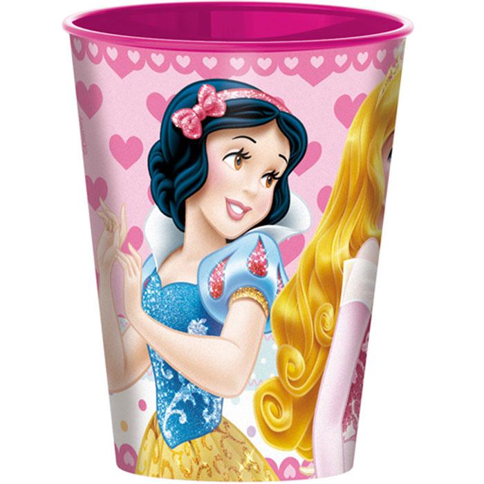 Disney Стаканчик пластмассовый Princess, 260 мл52207Яркий стакан Princess доставит вашему малышу массу удовольствия. Изготовлен стаканчик из высококачественного полипропилена розового цвета. Со стенок стакана вашему малышу приятно улыбаются героини любимых мультфильмов Disney. Прекрасное дополнение к праздничному столу на детской вечеринке! Такой подарок станет не только приятным, но и практичным сувениром, добавит ярких эмоций вашему ребенку!