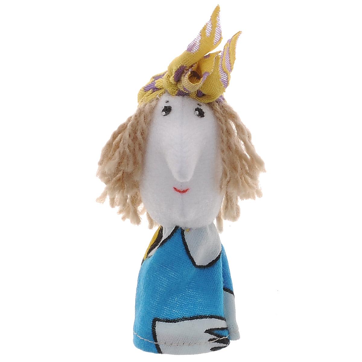 Наивный мир Кукла пальчиковая Баба Яга, цвет платка: желтый, фиолетовый017.52_голуое платье/желтый платокПальчиковая кукла Баба-Яга выполненная в спокойных тонах, станет великолепным дополнением к вашему пальчиковому театру. Играть и ставить спектакли с пальчиковыми куклами необыкновенно интересно. Управлять такой куклой сможет даже ребенок. Играя, малыш разовьет мелкую моторику рук, а сочиняя сценарии - воображение.