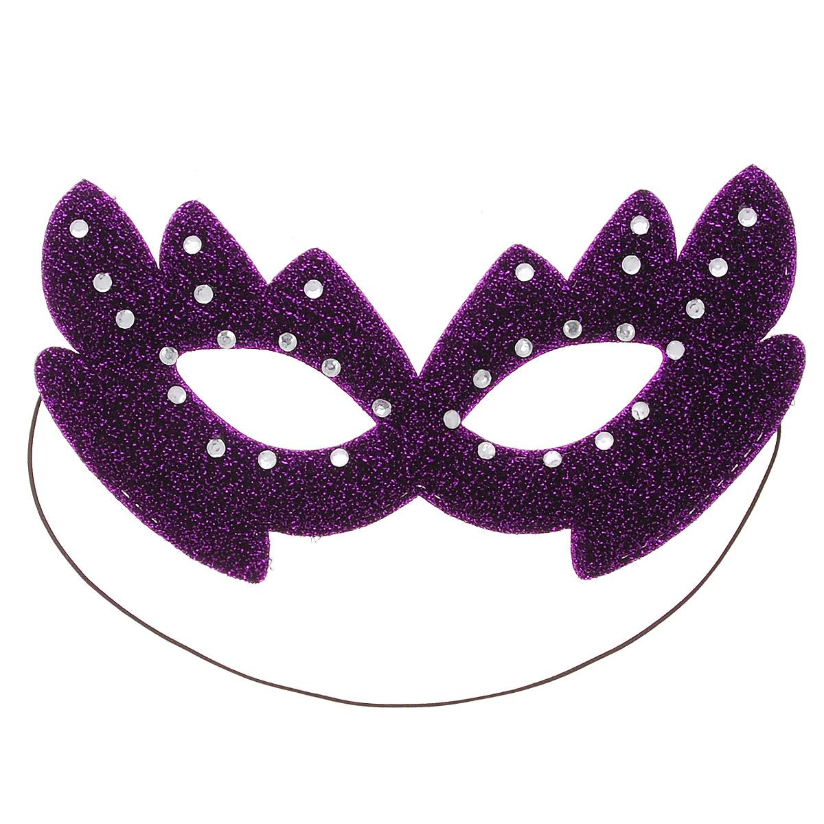 Шампания Маска карнавальная, цвет: фиолетовыйН88482_фиолетовыйКарнавальная маска Шампания из мягкого материала, украшенная блестками и стразами, внесет нотку задора и веселья в праздник. Маска станет завершающим штрихом в создании праздничного образа. Карнавальная маска держится при помощи резинки. В этой роскошной маске вы будете неотразимы!