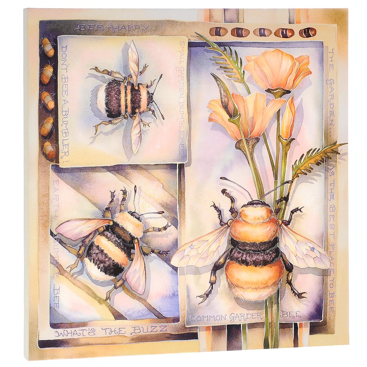 КвикДекор Картина на холсте Пчёлы, 40 см х 40 смAP-00260-6549-Cn4040Картина на холсте КвикДекор Пчёлы автора Джоди Бергсма станет прекрасным решением для декора помещения. Она добавит в интерьер яркий акцент и сделает обстановку уютной. Изделие представляет собой картину с латексной печатью на натуральном хлопчатобумажном холсте. Галерейная натяжка холста на подрамники выполнена очень аккуратно, а боковые части картины запечатаны тоновой заливкой. Обратная сторона подрамника содержит отверстие, благодаря которому картину можно легко закрепить на стене и подкорректировать ее положение. Работы автора картины Джоди Бергсма воплощают ее отношения с природой и ее страсть к мифическим существам. Ее коллекция изображений включает в себя все: от фей и русалок до Знаков Зодиака и дикой природы. Картина Пчёлы превосходно подойдет к интерьеру не только детской комнаты, но и гостиной. Картина поставляется в стрейч-пленке с защитными картонными уголками, упакована в гофрокоробку с термоусадкой.