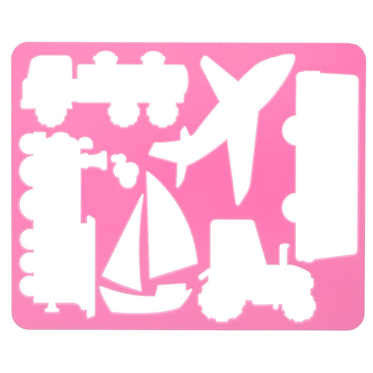 Луч Трафарет прорезной Виды транспорта, цвет: розовый10 С528-08_розовыйТрафарет Луч Виды транспорта, выполненный из безопасного пластика, предназначен для детского творчества. По трафарету маленький художник сможет нарисовать наземные, воздушные и водные виды транспорта. Для этого необходимо положить трафарет на лист бумаги, обвести фигуру по контуру и раскрасить по своему вкусу или глядя на цветную картинку-образец. Трафареты предназначены для развития у детей мелкой моторики и зрительно-двигательной координации, навыков художественной композиции и зрительного восприятия.
