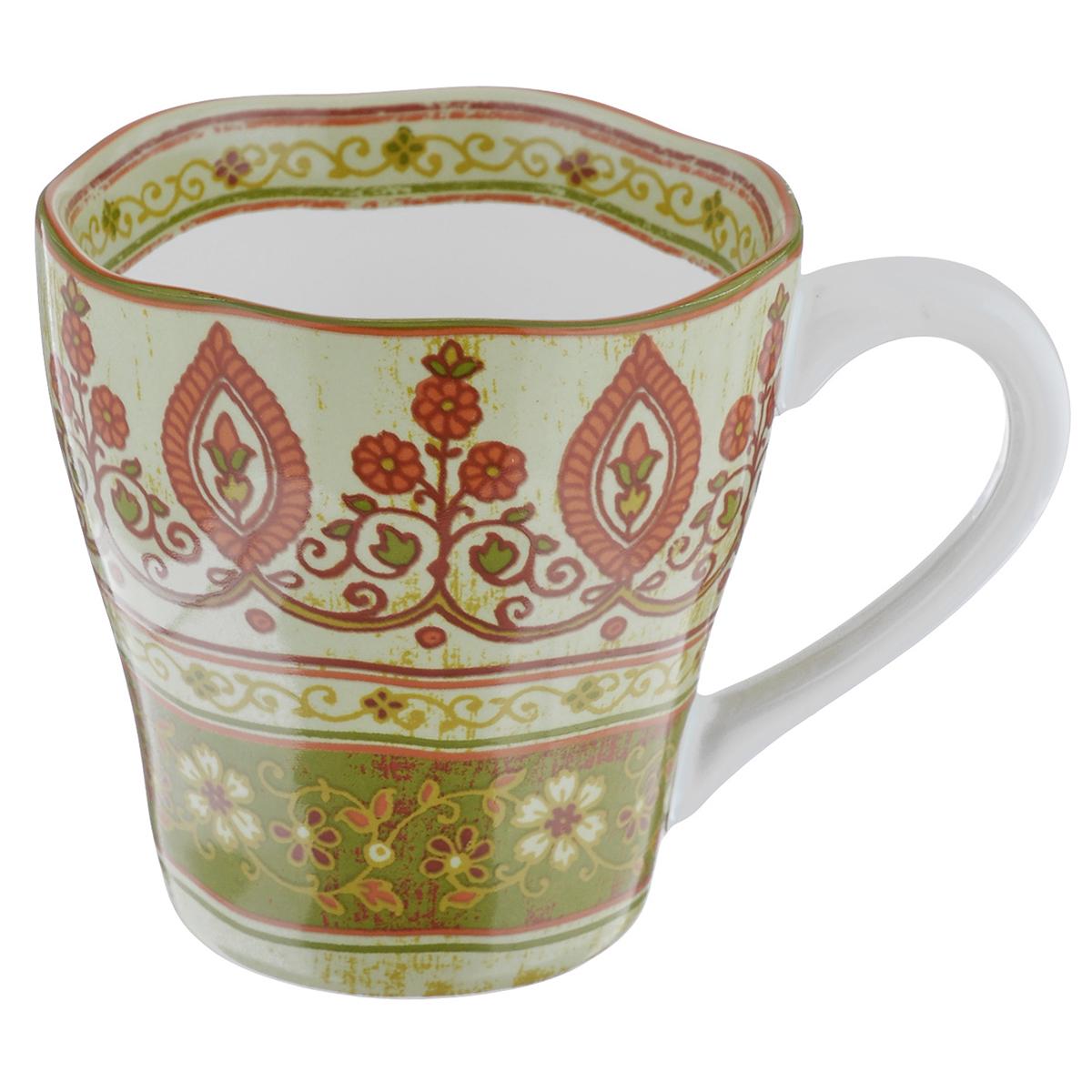 Кружка Utana Кашмир, 450 млUTG41601Кружка Utana Кашмир, выполненная из высококачественной керамики, декорирована орнаментом. Изделие оснащено удобной ручкой. Кружка сочетает в себе оригинальный дизайн и функциональность. Благодаря такой кружке пить напитки будет еще вкуснее. Кружка Utana Кашмир согреет вас долгими холодными вечерами. Можно использовать в посудомоечной машине и микроволновой печи. Объем: 450 мл. Диаметр (по верхнему краю): 10 см. Высота кружки: 10,5 см.