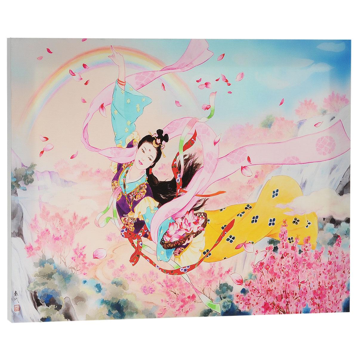 КвикДекор Картина на холсте Tennyo, 60 см х 40 смAP-00767-21845-Cn6040Картина на холсте КвикДекор Tennyo - это прекрасное украшение для вашей гостиной или спальни. Она привнесет в интерьер яркий акцент и сделает обстановку комфортной и уютной. Харие Морита родилась в Японии в 1945 году. Свой талант художника она проявила еще в раннем детстве. Обучение традиционной японской живописи и победы на выставках определили ее будущее художника. После обучения Харие работала дизайнером кимоно, это и сегодня находит отражение в ее картинах. В 1972 году она становится независимым художником со своим неповторимым стилем. С тех пор выставки с ее участием встречают с интересом по всему миру. Картины Харие Морита- это прекрасный мир фантазий об идиллических японских красавицах в нереально красивых нарядах. Ее работы богаты деталями, в них столько цвета и жизнерадостности. Картина на холсте КвикДекор Tennyo не нуждается в рамке или багете - галерейная натяжка холста на подрамники выполнена очень аккуратно, а боковые части картины запечатаны продолжением...