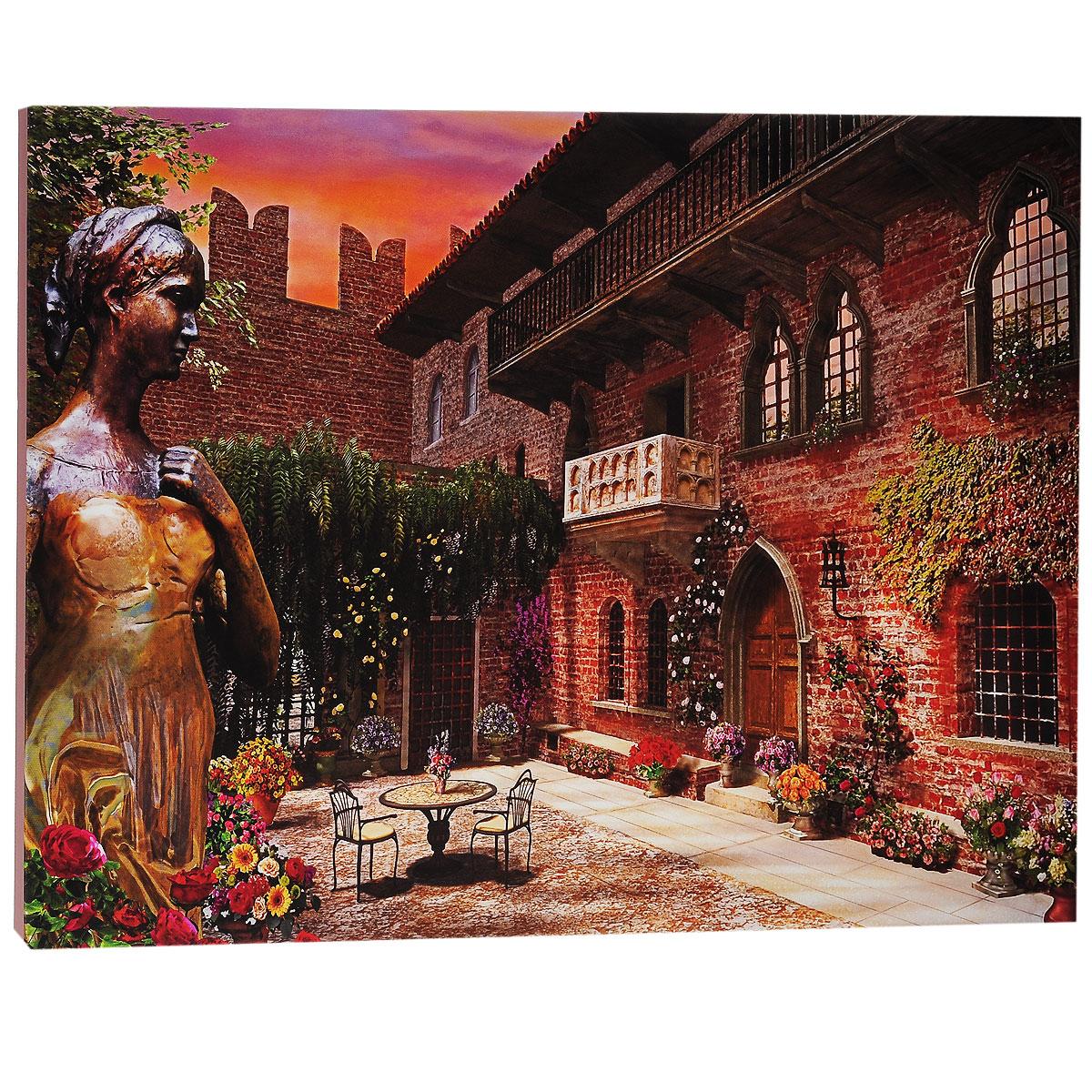 КвикДекор Картина на холсте Верона Джульетты, 60 см х 40 смAP-00607-20612-Cn6040Картина на холсте КвикДекор Верона Джульетты - это прекрасное украшение для вашей гостиной или спальни. Она привнесет в интерьер яркий акцент и сделает обстановку комфортной и уютной. Доминик Дэвисон создает свои картины, используя компьютер и 3D-графику. Большое влияние на творчество Дэвисона оказал голландский пейзажист Баренд Корнелис Куккук, именно поэтому в его работах преобладают эстетические мотивы голландской романтической школы. Доминик создает изумительные картины коттеджей, сельских пейзажей и городов. Его работы красивы, выдержаны и обогащены множеством деталей. Работы Доминика опубликованы в журналах 3Д Художники и Фотошоп для продвинутых, также он ведет регулярную рубрику (колонку) в журнале 3Д Художники. Доминик - мастер Vue, программы, широко используемой в архитектуре, анимации, и являющейся важнейшим компонентом рабочего процесса для многих ведущих компаний и студий. Картина на холсте КвикДекор Верона Джульетты не нуждается в рамке или багете -...