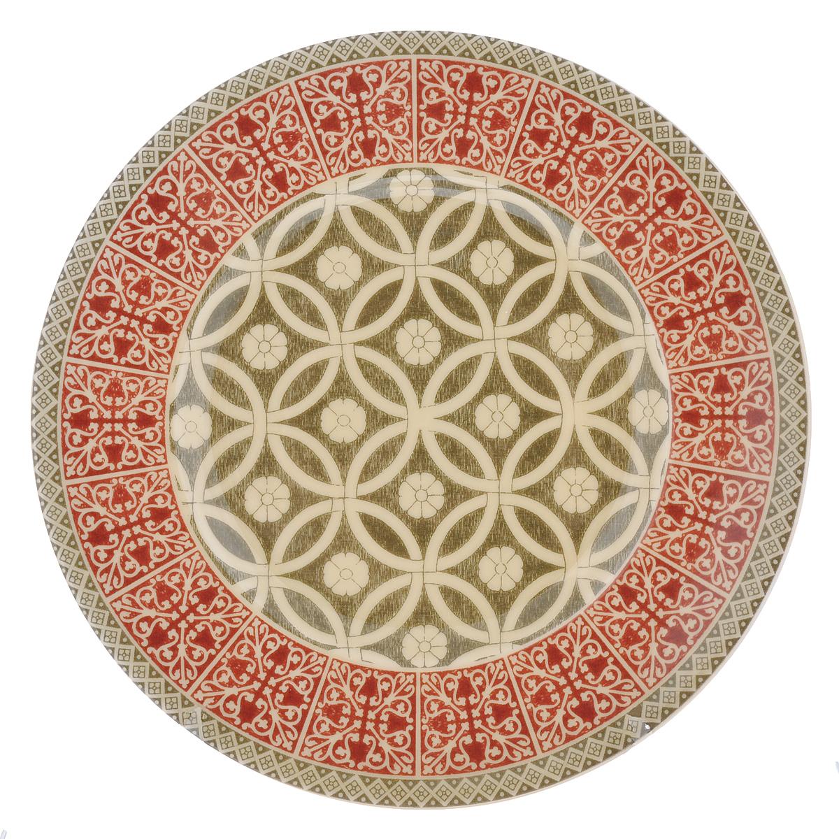 Тарелка десертная Utana Альгамбра, диаметр 22 смUTAH94810Тарелка десертная Utana Альгамбра изготовлена из высококачественной керамики. Предназначена для красивой подачи различных блюд. Изделие декорировано ярким принтом. Такая тарелка украсит сервировку стола и подчеркнет прекрасный вкус хозяйки. Можно мыть в посудомоечной машине и использовать в СВЧ. Диаметр: 22 см. Высота: 2 см.