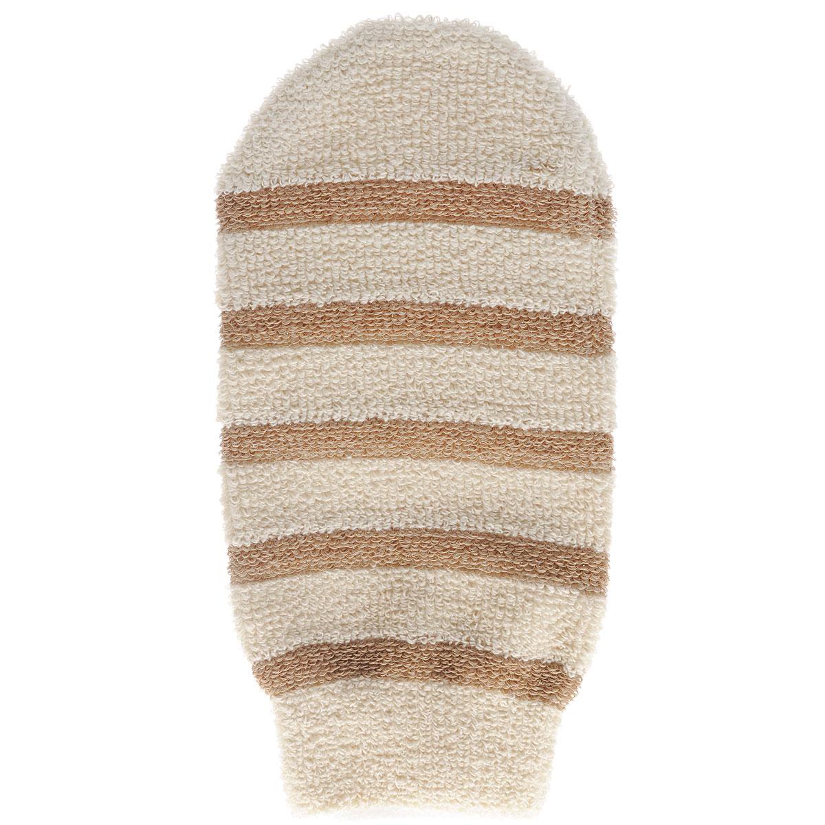 Мочалка-рукавица Riffi, с массажными полосками, цвет: бежевый406_бежевыйМочалка-рукавица Riffi применяется для мытья тела, благодаря массажным полоскам обладает активным пилинговым действием, тонизируя, массируя и эффективно очищая вашу кожу. Интенсивный и пощипывающий свежий массаж тела с применением мочалки Riffi усиливает кровообращение, активирует кровоснабжение и улучшает общее самочувствие. Благодаря отшелушивающему эффекту, кожа освобождается от отмерших клеток, становится гладкой, упругой и свежей. Мочалка-рукавица Riffi приносит приятное расслабление всему организму. Борется с болями и спазмами в мышцах, а также эффективно предупреждает образование целлюлита. Состав: 85% хлопок, 15% полиэтилен. Товар сертифицирован.
