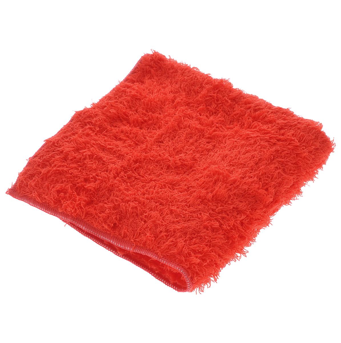 Салфетка чистящая Sapfire, для мытья и полировки автомобиля, цвет: красный, 40 см х 40 смSFM-3022_красныйБлагодаря своей уникальной ворсовой структуре, салфетка Sapfire прекрасно подходит для мытья и полировки автомобиля. Материал салфетки (микрофибра) обладает уникальной способностью быстро впитывать большой объем жидкости. Клиновидные микроскопические волокна захватывают и легко удерживают частички пыли, жировой и никотиновый налет, микроорганизмы, в том числе болезнетворные и вызывающие аллергию. Салфетка великолепно удаляет пыль и грязь. Протертая поверхность становится идеально чистой, сухой, блестящей, без разводов и ворсинок. Размер салфетки: 40 см х 40 см.