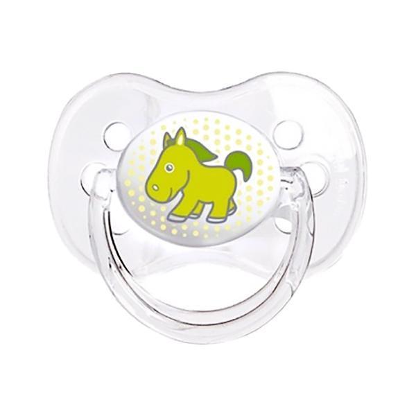 Canpol Babies Пустышка силиконовая Ослик 18 месяцев цвет зеленый