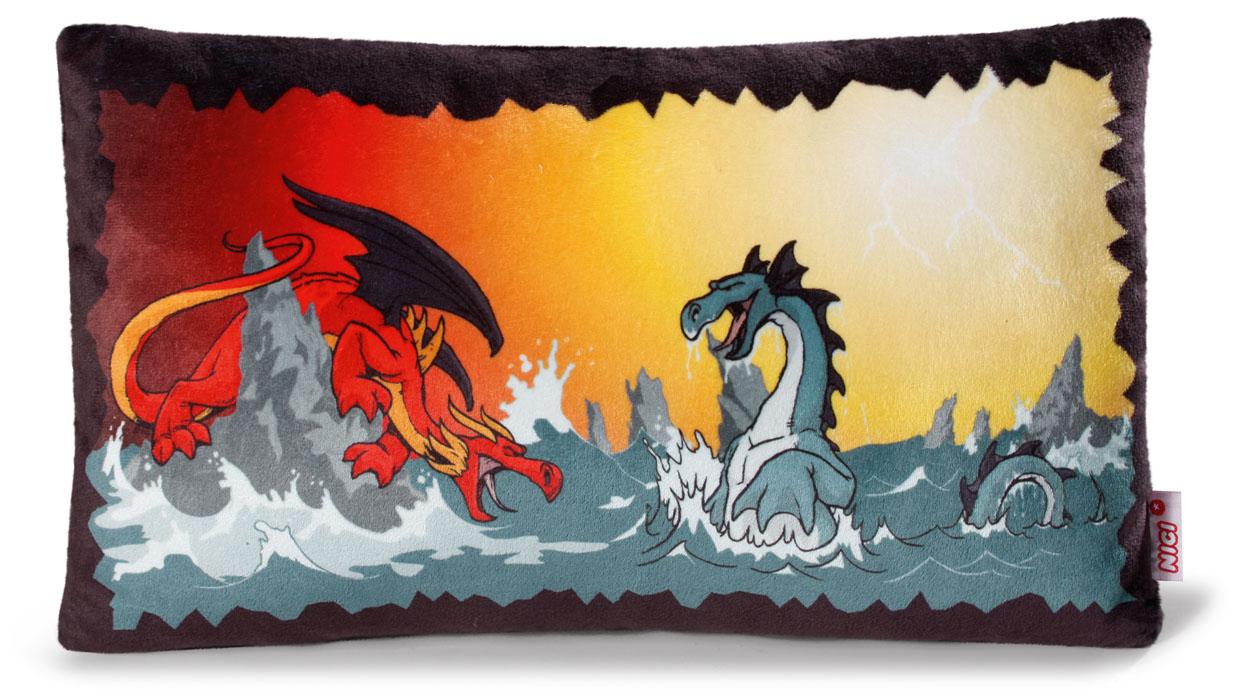 Подушка Битва драконов, 43*25 см37490