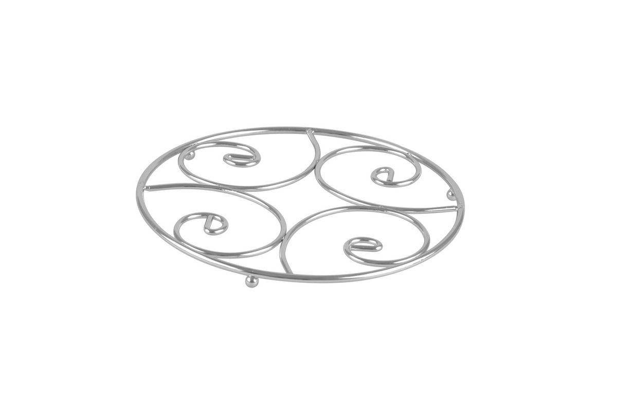 Подставка под горячее Bekker, диаметр 20 смBK-3058Круглая подставка под горячее Bekker изготовлена из высококачественной нержавеющей стали. Рабочая часть имеет оригинальный дизайн. Изделие предназначено для защиты поверхности стола от высоких температур.
