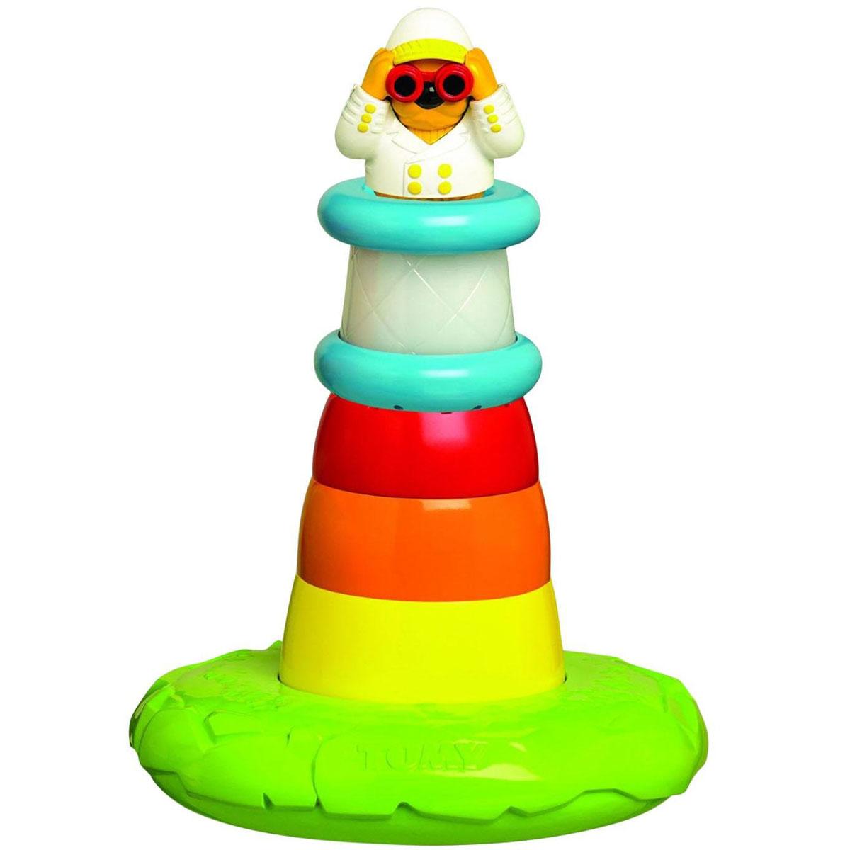 Tomy Развивающая игрушка-сортер для ванной Маяк, со световыми и звуковыми эффектамиE72194RUРазвивающая игрушка-сортер для ванной Tomy Маяк обязательно привлечет внимание вашего малыша. Выполнена игрушка из прочных и безопасных материалов в виде яркой пирамидки. Каждый блок пирамидки имеет разные отверстия для проливания воды, а когда ребенок соберет игрушку, загорится яркий свет маяка и послышатся морские звуки. Игрушка поможет малышу в развитии мелкой моторики, цветового и звукового восприятия. Для работы игрушки рекомендуется докупить 3 батарейки напряжением 1,5V типа LR44 (товар комплектуется демонстрационными).