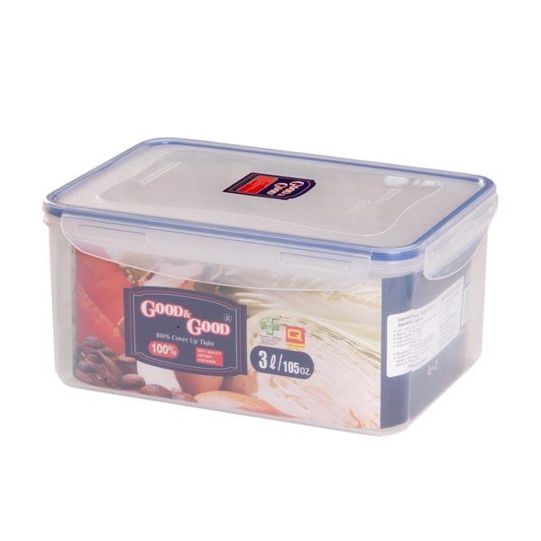 Контейнер пластиковый Good&Good 2,0 л для пищевых продуктов. 4-14-1100м % Водо- и воздухонепроницаемость,герметичность, абсолютная нетоксичность при любом температурном режиме. отличная антибактериальная эффективность. 4-х сторонним петлям-замкам.силиконовой прокладке на внутренней стороне крышки.Механическая прочность позволяет перевозить продукты в условиях ударов, тряски, предохраняет еду в случае падения воздухонепроницаемых, антибактериальных контейнеров на пол.можно использовать в посудомоечной машине,а так же в микроволновой печи. замораживать до -20°С и размораживать различные продукты без потери вкусовых качеств