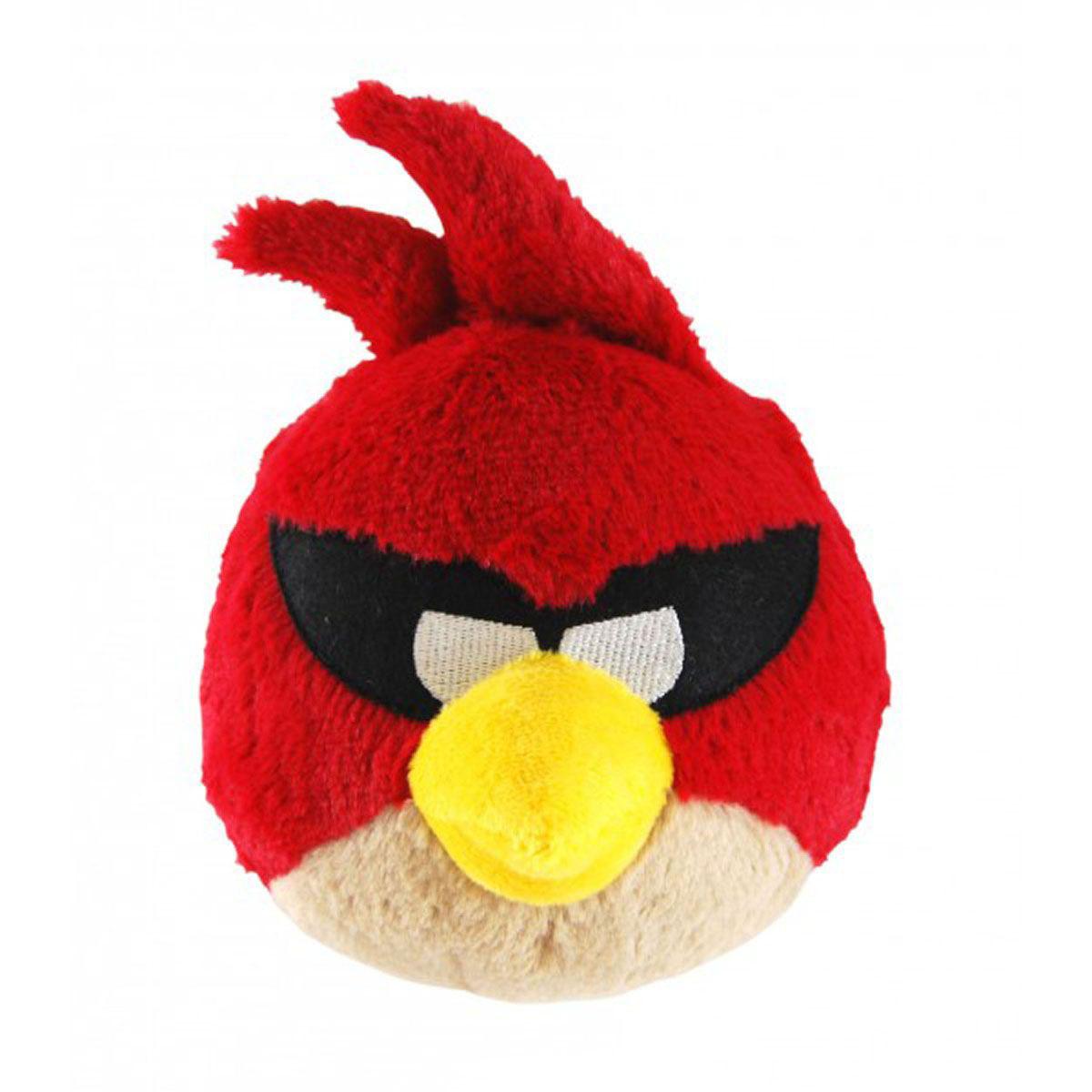 Angry Birds Space Мягкая озвученная игрушка, цвет: красный, 22 см92670_красныйМягкая озвученная игрушка Angry Birds Space подарит вашему ребенку много радости и веселья. Удивительно приятная на ощупь игрушка выполнена в виде красной птички - персонажа популярной игры Angry Birds. При нажатии на кнопку, расположенную на макушке, игрушка начинает смеяться и издавать забавные звуки. Чудесная мягкая игрушка непременно поднимет настроение своему обладателю и станет замечательным подарком к любому празднику. Игрушка работает от незаменяемых батареек.